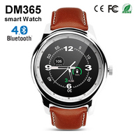 Hot DM365 Bluetooth Smart Watch 360*360 IPS Full View & Leather Strap Pedometer Sleep Monitor for iPhone 5s 6 6s & Android Phone