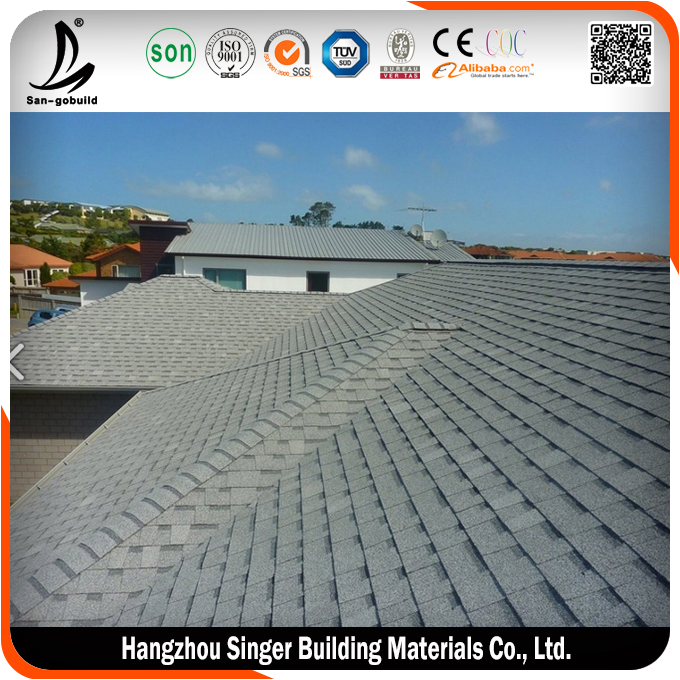 Low price roofing shingles prices, hot sale heat insulation roofing shingle