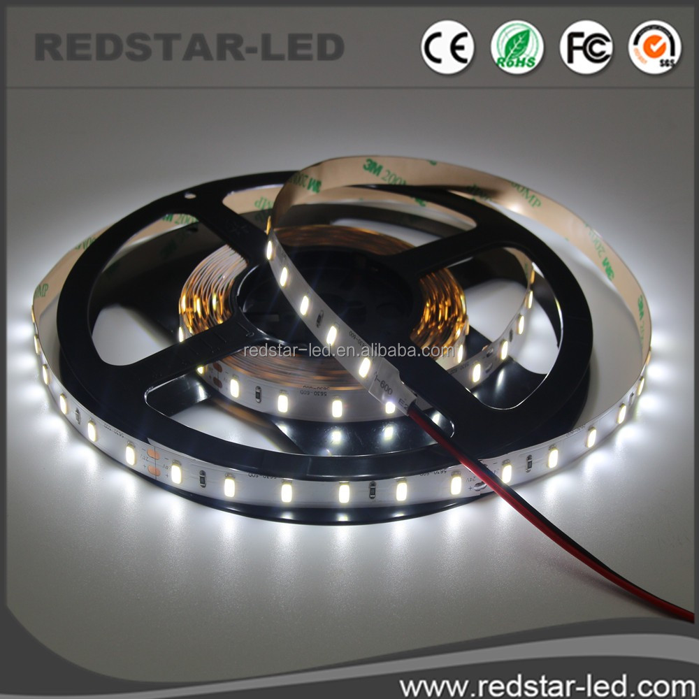 Constant Current Warm White/white Waterproof Smd 2835 3528 5630 5730 5050 Flexible Led Strip 24v