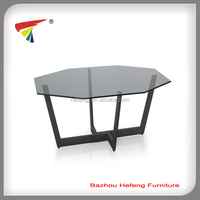 Tempered Glass Top table coffee,powder coated frame