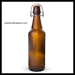 Amber Flip Top Bottles, 500 ml. --- Case/12