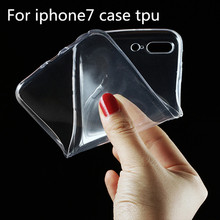 Ultra Thin Clear Crystal Transparent TPU Soft Phone Case Back Cover for iPhone7 case