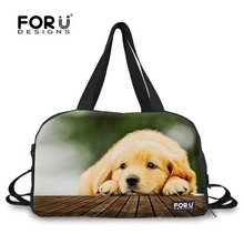 Lovely pets design rectangle canvas fancy travel duffel bag