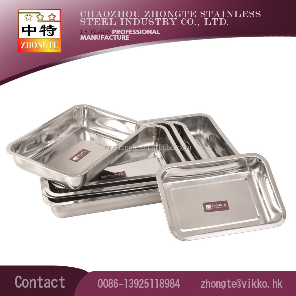 7cm nonmagnetic depth Stainless steel serving Tray