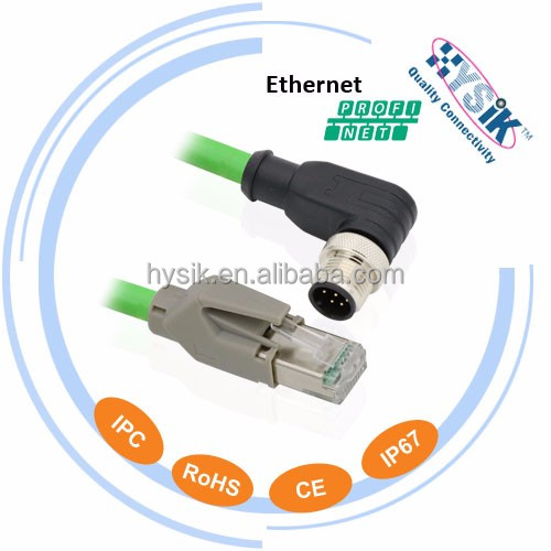 Ethernet powerlink 8P M12 D code to RJ45 Industry connector