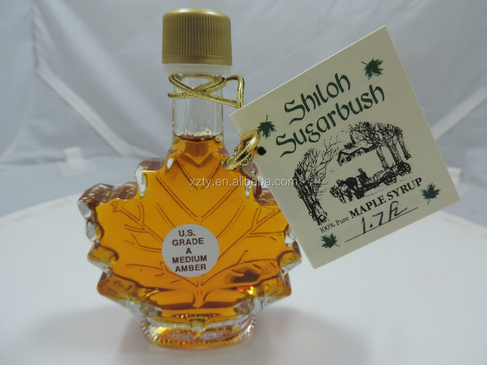 Pure Maple Syrup - Glass Leaf Bottle 1.7oz