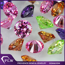 Supply beautiful color CZ gem stone for Jewelry decoration