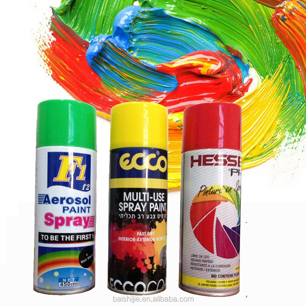 Multi-colors non-toxic spray paint bosny acrylic spray paint