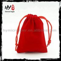 New style beautiful velvet drawstring jewelry pouch with CE certificate