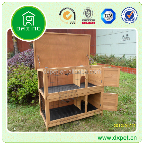handmade wooden rabbit hutch DXR015