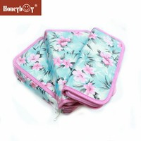 2015 Hot New Products Printed Elegant Flowers, Different Size ,Set of 3 Pencil Case