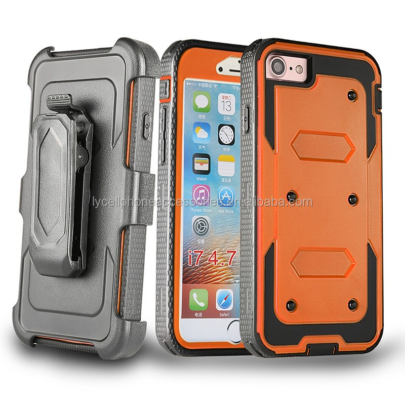 Dual Layer Shockproof Hybrid Case Rugged Rubber Hard Slim Armor Cover for Iphone 7