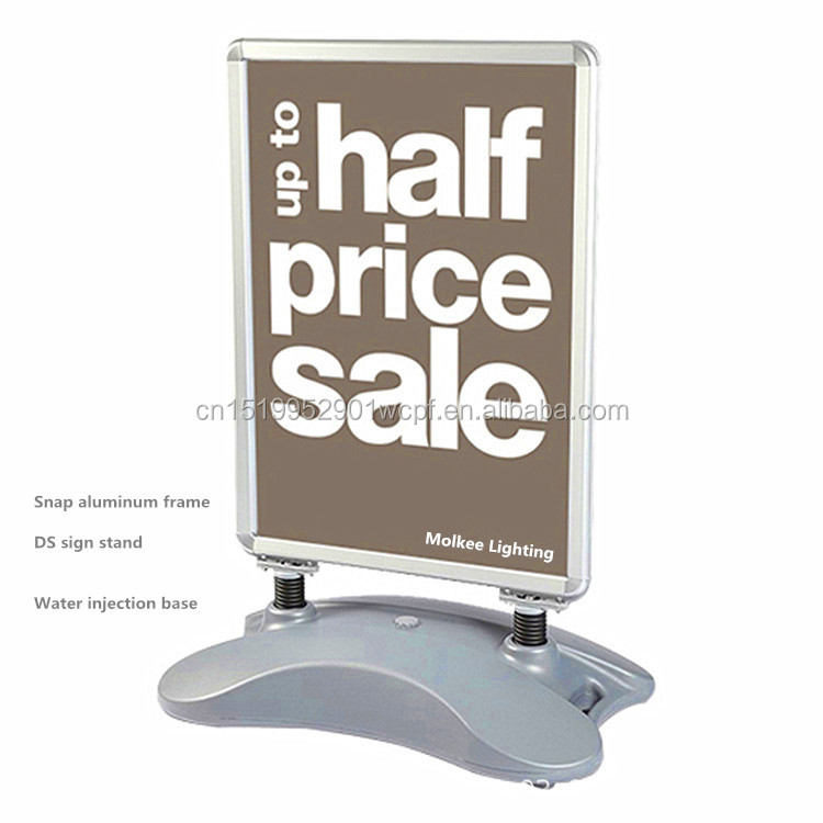 High quality Aluminum <strong>frame</strong> sign board <strong>A0</strong> stand pavement sign with waterbase