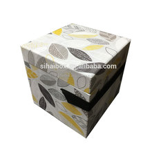 high quality flip paper gift box packing box with rubber band