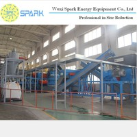 2015 Most advanced German technology waste rubber tyre recycling machine Double Shaft shredder for Used Tire