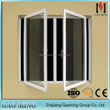 Soundproof aluminium profile power coated glass casement louvre windows