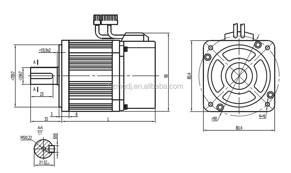 new design 80 series servo 80ST-M01330 400W or 750W electric motor