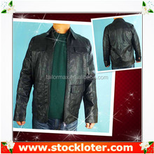 Readymade coat Mens PU Jacket leather coat liquidation, 130906f