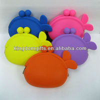 girl lady silicone fish coin purse