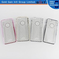 Hotselling grid pattern hard back case cover for iPhone 6 plus back cover, ultra-thin clear back cover for iPhone 6 plus