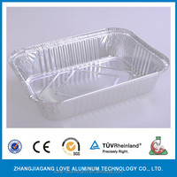 Rectangle foil BBQ food container for baking food