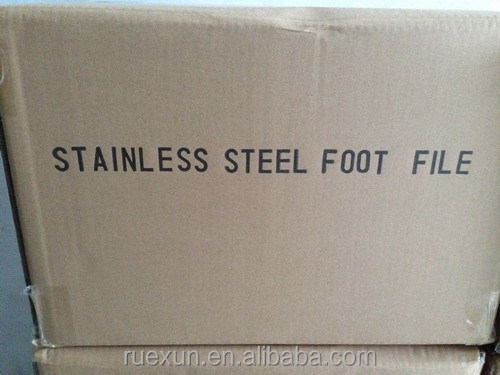 stock stainless steel foot file