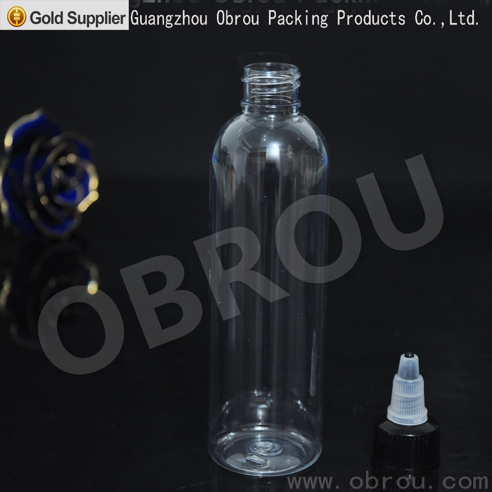 Wholesale twist off caps new designed pen shape unicorn bottle 120ml PET plastic bottles twist top