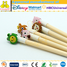 Audited China factory custom plastic pvc rubber pencil topper animal pen toppers for kids
