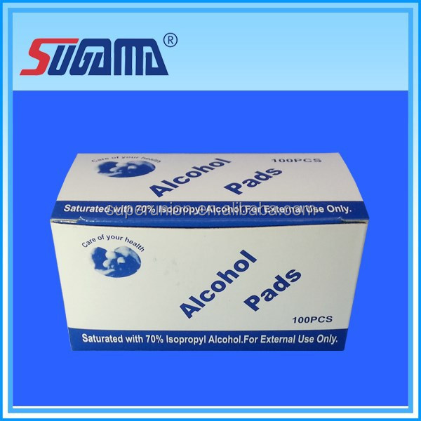 Disposable operating surgical 70% isopropyl alcohol cleaning swabs