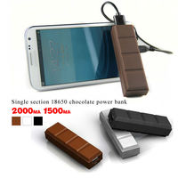 Universal backup power supply for iphone 2000mah power bank chocolate color and perfume for iphone samsung htc black berry