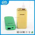 portable 5200mah power bank charger, rectangle power bank with led charge indicator