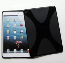 Hot Selling For iPad 6 Soft Gel X-Line TPU Tablet PC Case MIX Colors