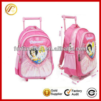 Attractive fashion princess trolley bag