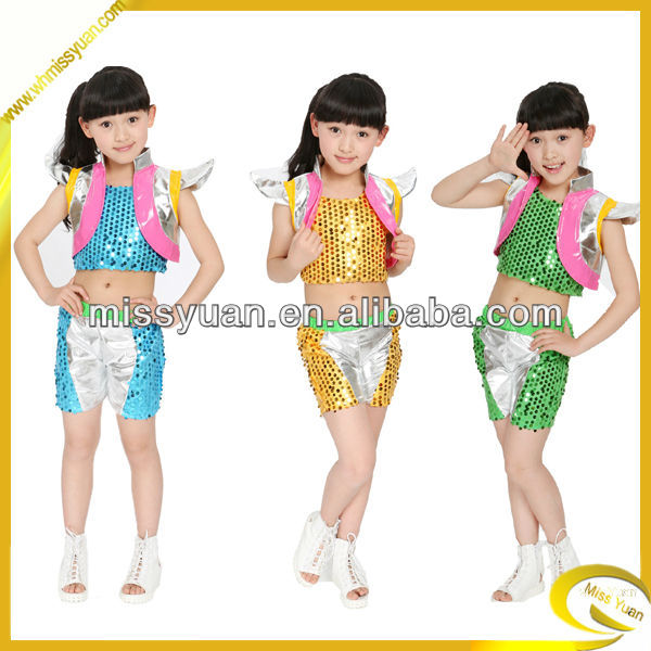 2014 New style fashion exotic dancewear for kids