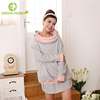 breathable material fashion long sleeve maternity gown