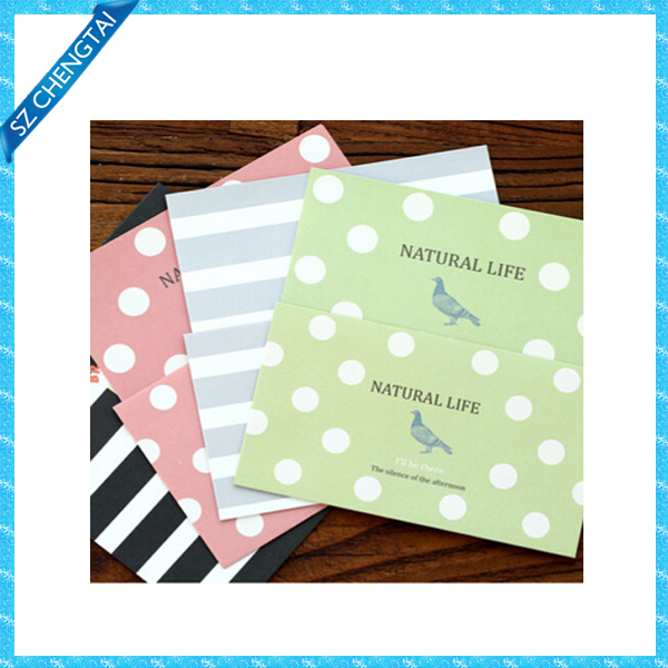 Kawaii polka dot design writing stationery paper with envelope