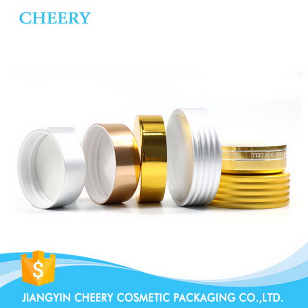 wholesale plain round aluminum candle tin box with lid