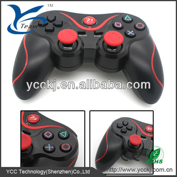 black hot sale game high quality wireless joystick for ps3 bluetooth joypad for ps3