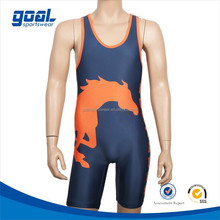 Latest design cheap sublimation camo wrestling singlets for sale