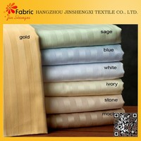 Cotton bedding satin striped cheap colorful textile and fabrics