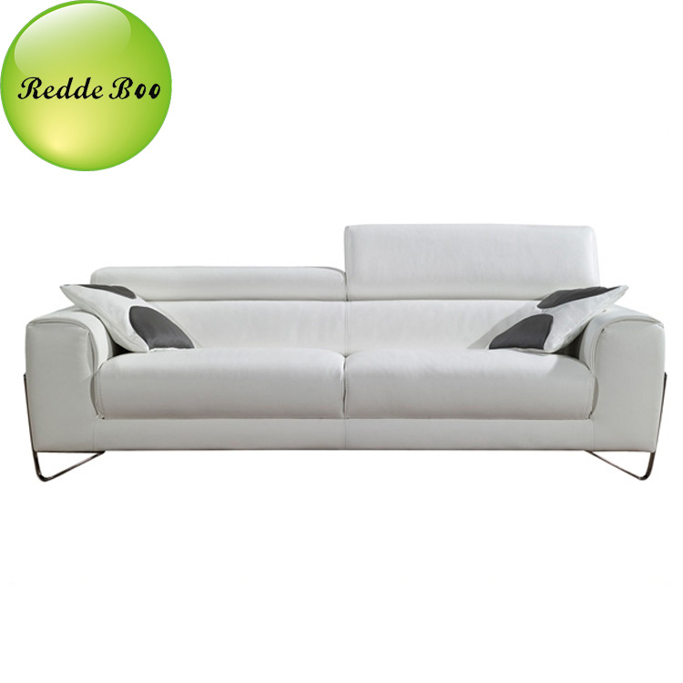 modern sofa, stainless metal Italian leather 321 modern leather sofa from  chinese sofa manufacturer, View leather sofa, Redde Boo, Redde Boo Product  ...