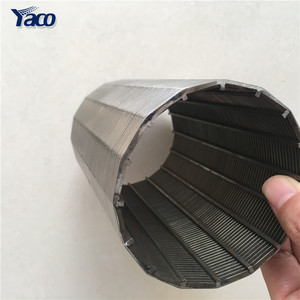 Stainless Steel Wedge Wire Drum Screen Basket For Screw Press