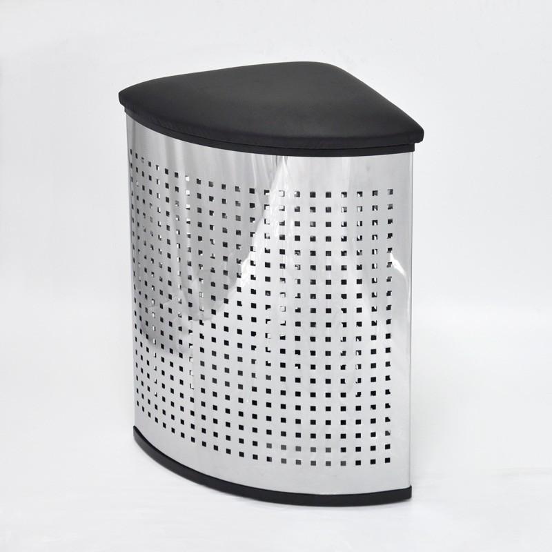edelstahl oval deckel w schekorb stand w schtasche und. Black Bedroom Furniture Sets. Home Design Ideas