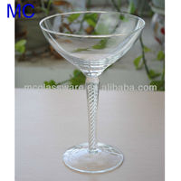 twist stem wine glass martini