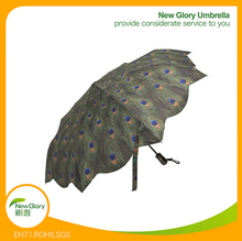 2016 new design Peacock Auto Open/Close Super-mini Foldable Umbrella