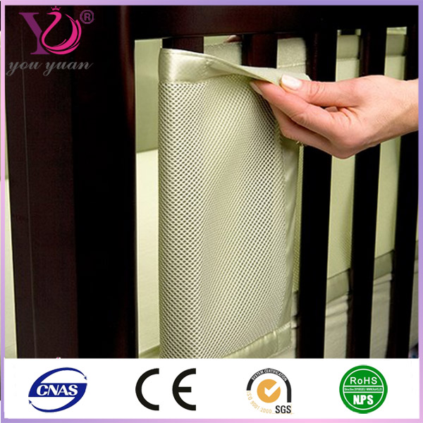 Breathable mesh fabric for baby crib liner