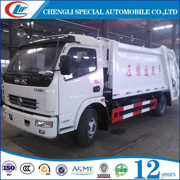 6 Wheels Garbage Compaction Vehicles 4M3 Garbage Compactor Truck