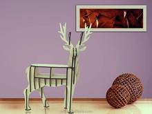 deer shape wooden model for home decoration