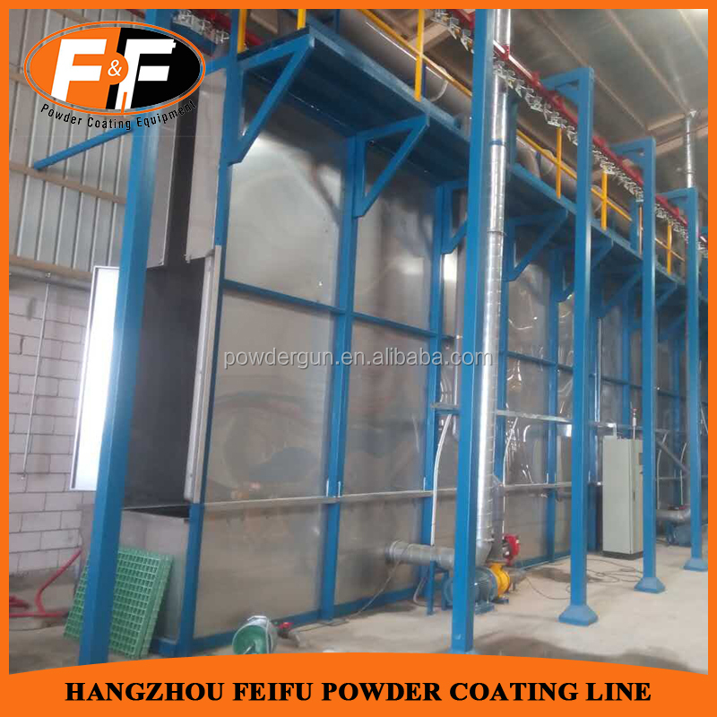 Electrostatic Powder Coating Production Equipment with Dry Oven and Mono Cyclone Paint Booth