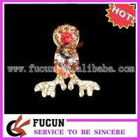 wholesale colorful rhinestone Christmas Antlers ornaments/christmas decoration